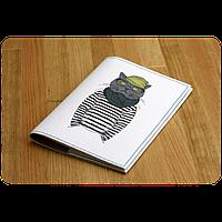 """Обложка для паспорта """"Кот-хипстер"""" + блокнотик"""