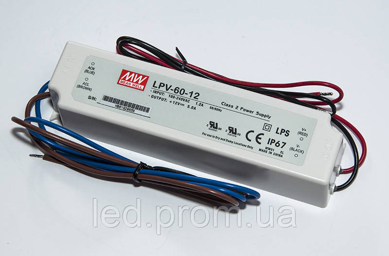 Блок питания Mean Well 35Вт 24В IP67 (LPV-35-24)