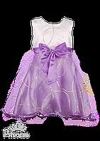 Красивое платье с золотистым принтом 98-104