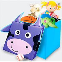 Детский пуф Зоопарк Корова, 40*40*40 см, в пакете