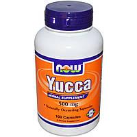 Now Foods, Юкка, 500 мг, 100 капсул, купить, цена, отзывы