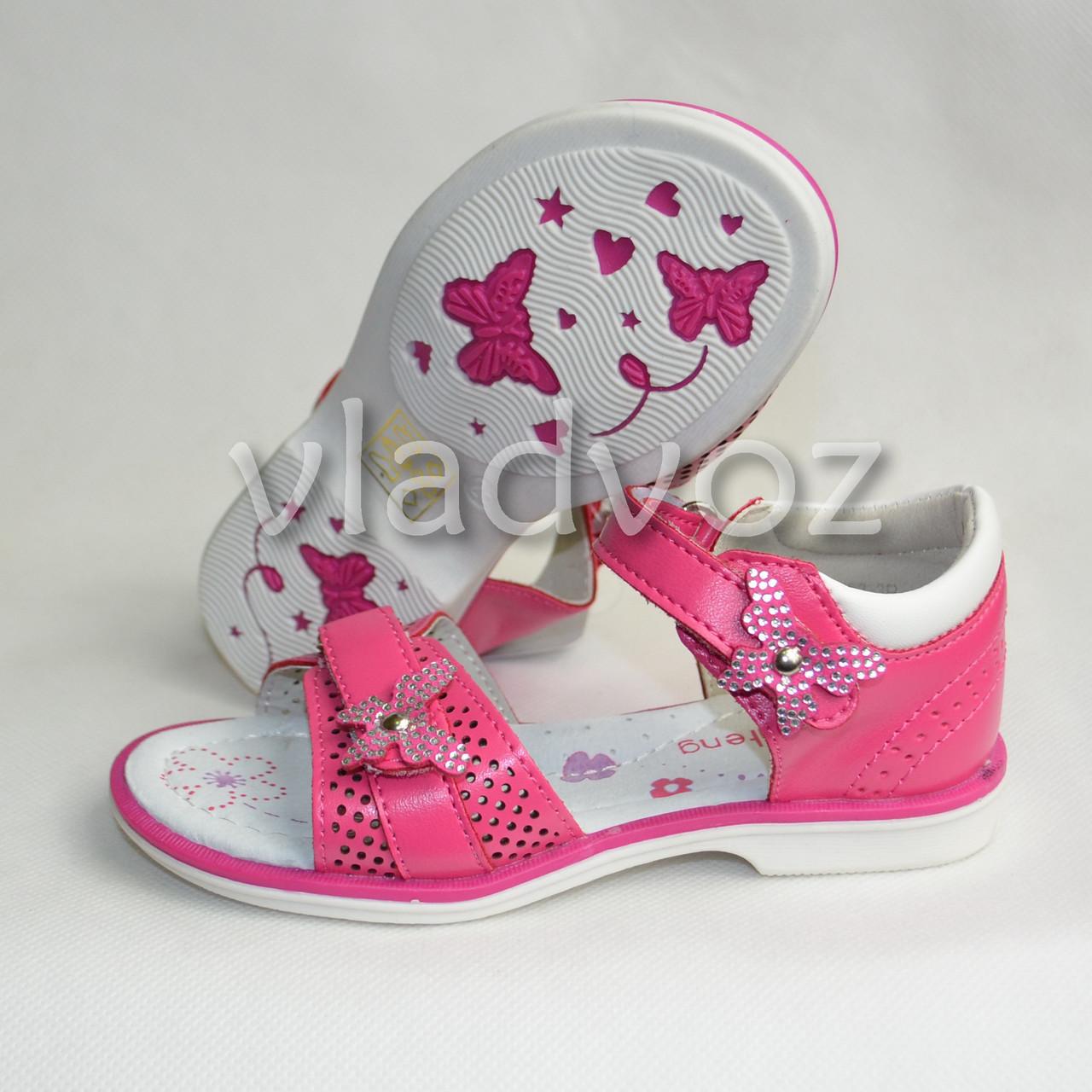 Босоножки сандалии для девочки малиновые KLF