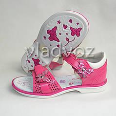 Детские босоножки сандалии для девочки бантик малиновые 26р. KLF