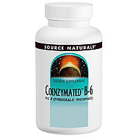 Source Naturals, Витамин B-6 с коферментами, 25 мг под язык, 120 таблеток, купить, цена, отзывы