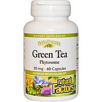 Natural Factors, Фитосомы зеленого чая, 50 мг, 60 капсул, купить, цена, отзывы