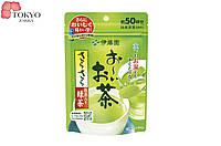 Японский растворимый зеленый чай с добавлением Матча Itoen