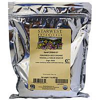Starwest Botanicals, Натуральные семена пажитника,1 фунт (453.6 г), купить, цена, отзывы