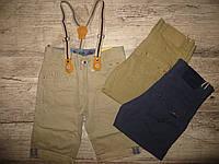 Котоновые бриджи с подтяжками для мальчиков S&D оптом 6-14 лет.