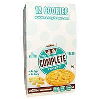 Lenny & Larry's, The Complete Cookie, белый шоколад и акадамия, 12 печений, 113 г (4 унции) каждое, купить, цена, отзывы