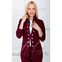 Молодежный пиджак с золотистыми пуговицами (4 цвета)
