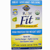 Garden of Life, RAW Fit, High Protein for Weight Loss, Vanilla, 10 Single Serving Packets - 1.5 oz (42 g) Each, купить, цена, отзывы