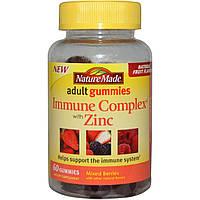 Nature Made, Жевательные витамины для взрослых, иммуностимулирующий комплекс с цинком, смесь ягод, 60 жевательных таблеток, купить, цена, отзывы