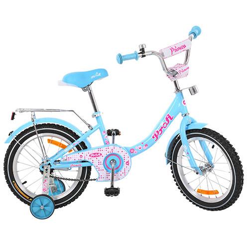Двухколесный велосипед PROFI 14 дюймов G1412 Princess голубой