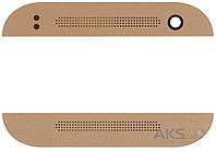 Aksline Верхняя + нижняя панель (накладка динамика) HTC One mini 2 Gold