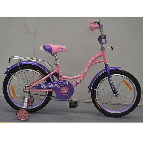 Двухколесный велосипед PROFI 14 дюймов G1421 Princess розовый