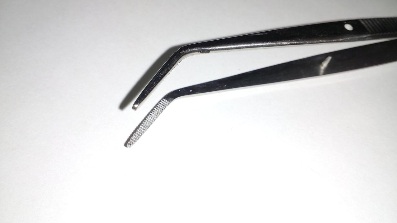 Пінцет зубний вигнутий, П-114