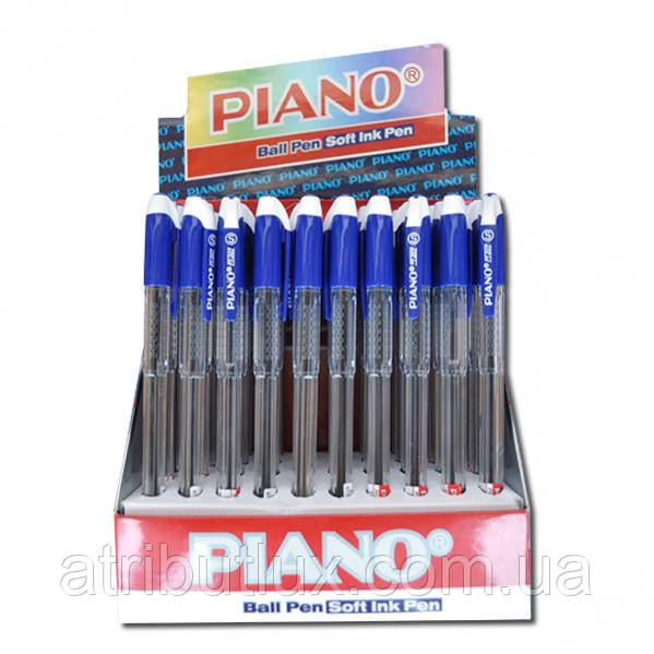 Ручка кулькова PT-207C (білий ковпачок) синя