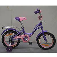 Двухколесный велосипед PROFI 14 дюймов G1422 Princess фиолетовый