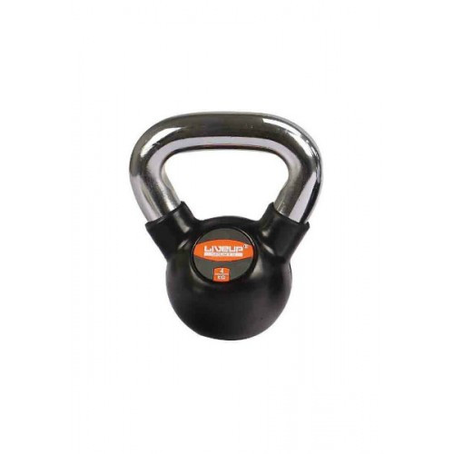 Гиря в резиновой оболочке 4 кг RUBBER KETTEL BELL LS2044-4