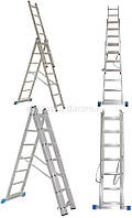 Лестница алюминиевая  трехсекционная (3х10ступеней) цена