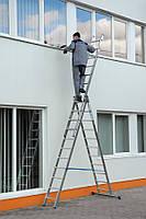Лестница алюминиевая Раздвижные  (3х13ступеней)