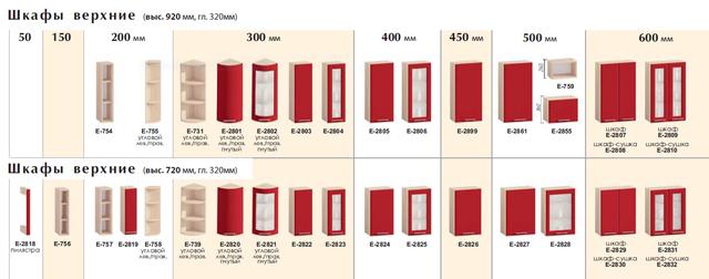 варианты модулей кухни Хайтек
