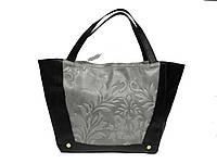 Женская  сумка из натуральной кожи фабричная (отшита  в Италии) комбинированного цвета, на две ручки