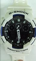 Часы CASIO G-Shock 100 качество ААА белые с черным