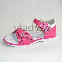 Детские босоножки сандалии для девочки бантик малиновые 29р. KLF, фото 2