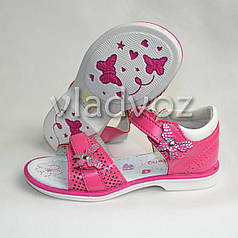 Детские босоножки сандалии для девочки бантик малиновые 29р. KLF