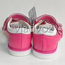 Детские босоножки сандалии для девочки бантик малиновые 29р. KLF, фото 3