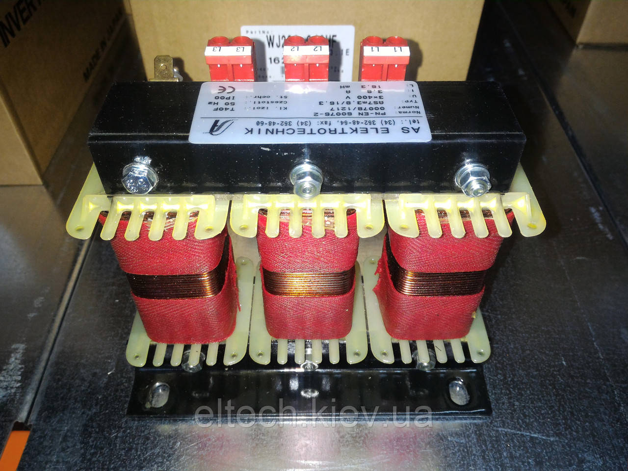 Дроссель моторный трехфазный AS7m-3.8/16.3 (400В: 0.4-1.5кВт; 220В: 0.2-0.55кВт)