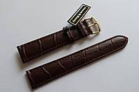 Кожаный ремень Bennett&Murray-ремень из натуральной кожи коричневый под крокодил 20 мм
