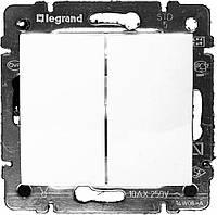 Выключатель двухклавишный Legrand Valena, фото 1