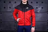 Ветровка Nike черно-красная
