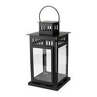Фонарь декоративный металлический черный 28 см