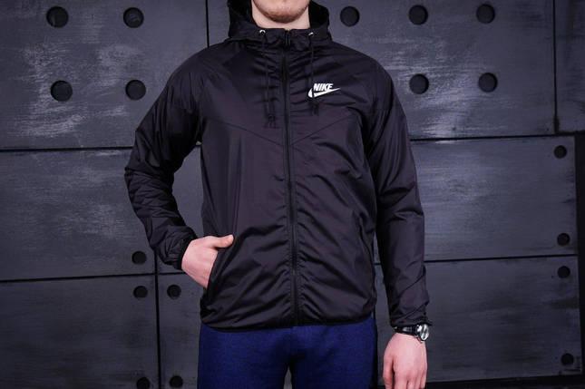 Ветровка Nike черная, виндранер, фото 2