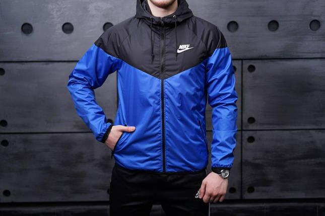 Ветровка Nike черно-синяя, виндранер, фото 2