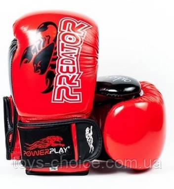 Боксерские Перчатки Powerplay 3007 Scorpio Predator Serits Red Ps
