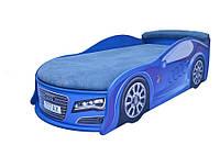Кроватка- машина с матрасом Audi, синяя