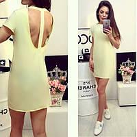 Женское платье с интересной спиной желтое СКЛАД