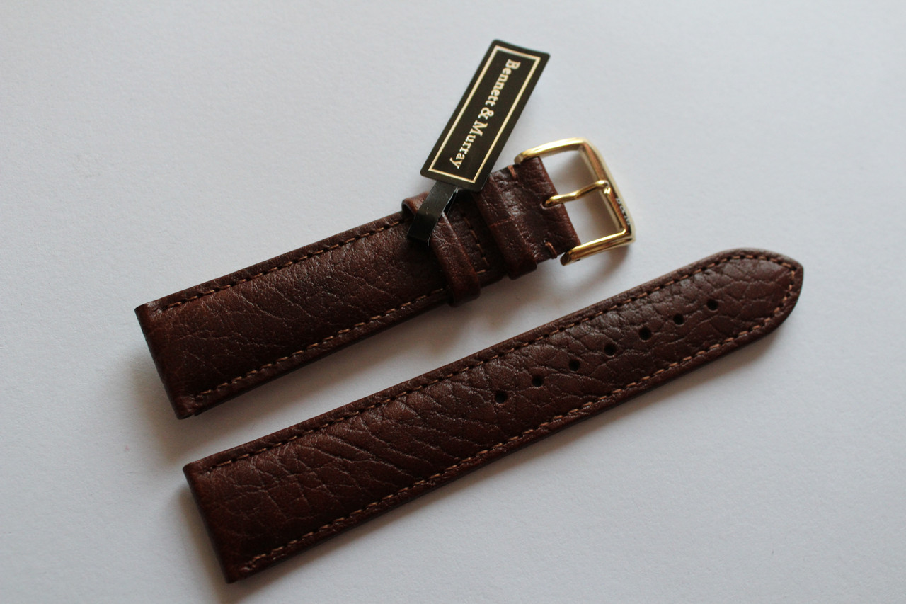 Кожаный ремень Bennett&Murray-ремень из натуральной кожи коричневый гладкий 20 мм