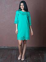 Красивое женское платье Аурика бирюзового цвета