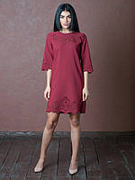 Красивое женское платье Аурика бордового цвета