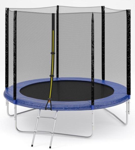 Батут спортивный 305 см Atleto сетка + лестница до 150 кг (спортивний сітка + драбина Атлето)