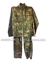 Камуфлированный костюм тактический зелёный Атакс (Рип-стоп)