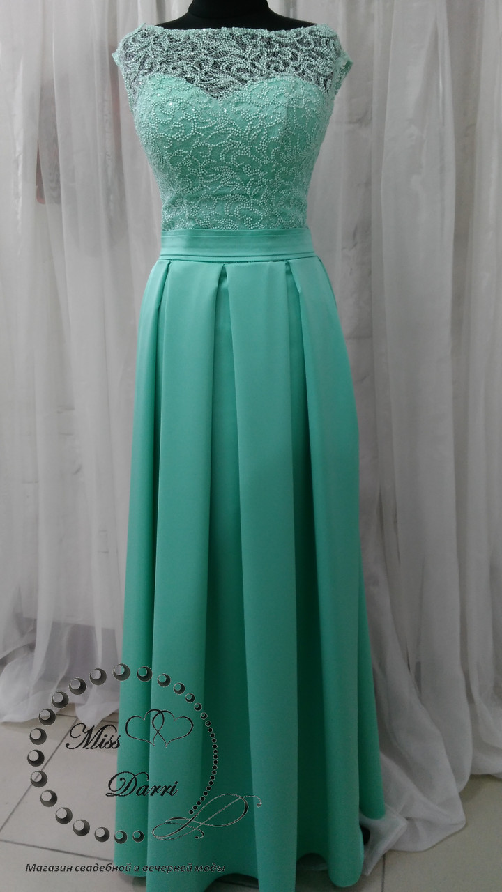 c362171a44f Вечернее платье длинное мятного цвета  продажа