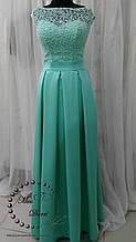 Вечернее платье длинное мятного цвета