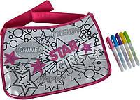 Мини-сумочка с паетками Хипстер, 5 маркеров, 33×23 см, Color Me Mine