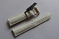 Кожаный ремень Bennett&Murray-ремень из натуральной кожи белый под крокодил 20 мм